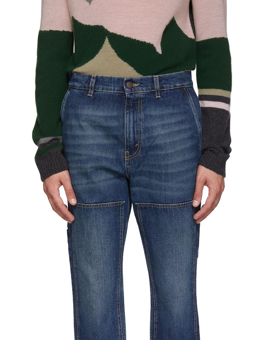 STELLA MCCARTNEY Blue Denzel Workwear Jeans