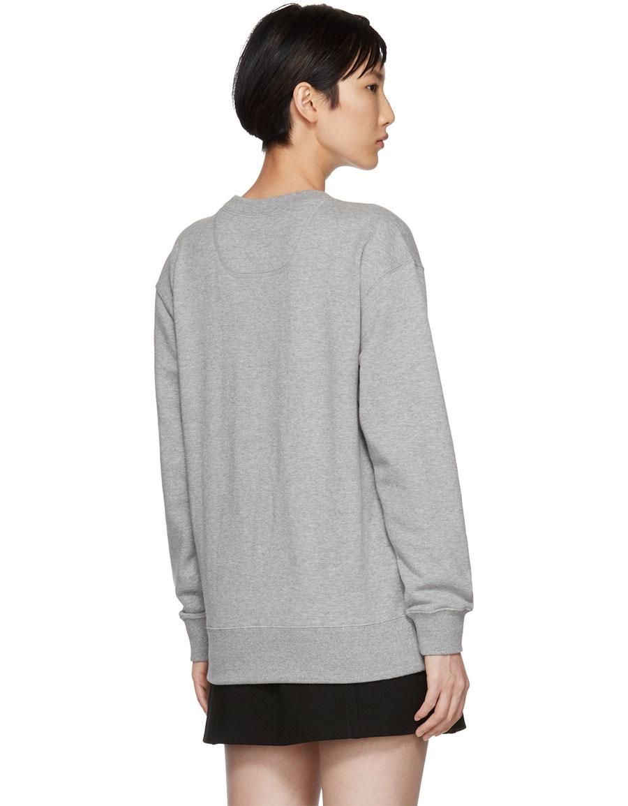 MARC JACOBS Grey Lux Embellished Sweatshirt