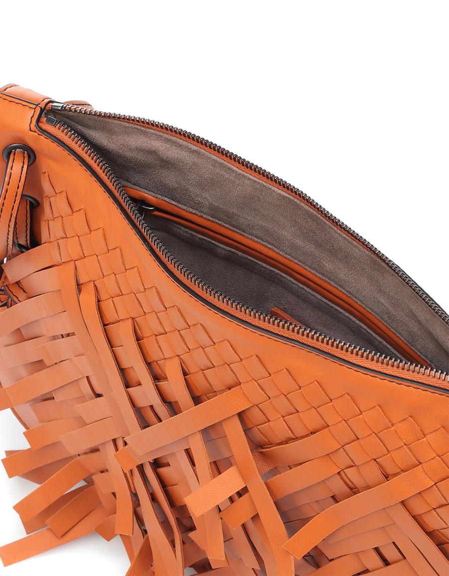 BOTTEGA VENETA Palio Fringes leather shoulder bag