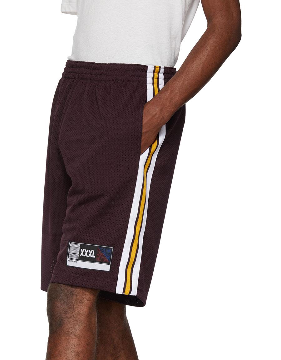 ALEXANDER WANG Red Jersey Sports Shorts