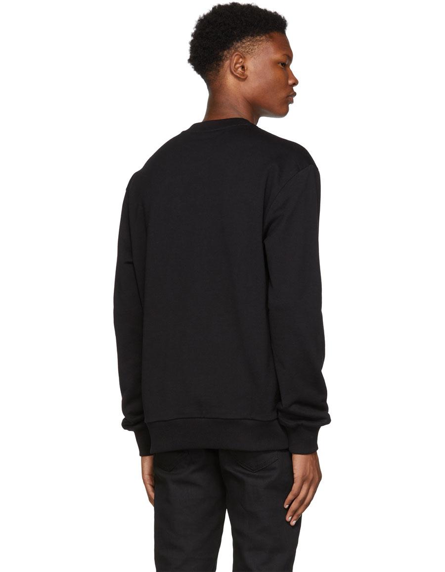 DOLCE & GABBANA Black Small Crown Sweatshirt
