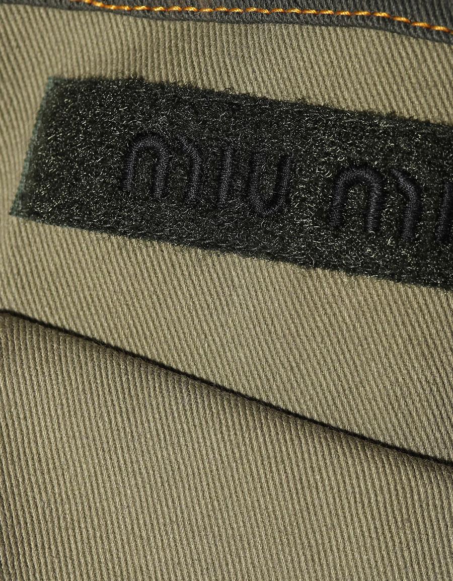 MIU MIU Fur trimmed stretch cotton jacket