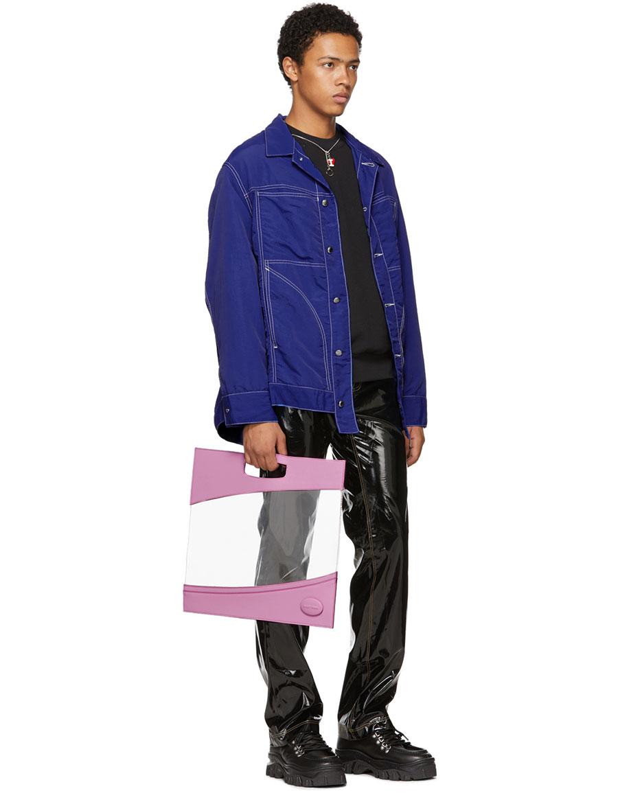 OTTOLINGER Black Faux Leather Shiny Basic Jeans