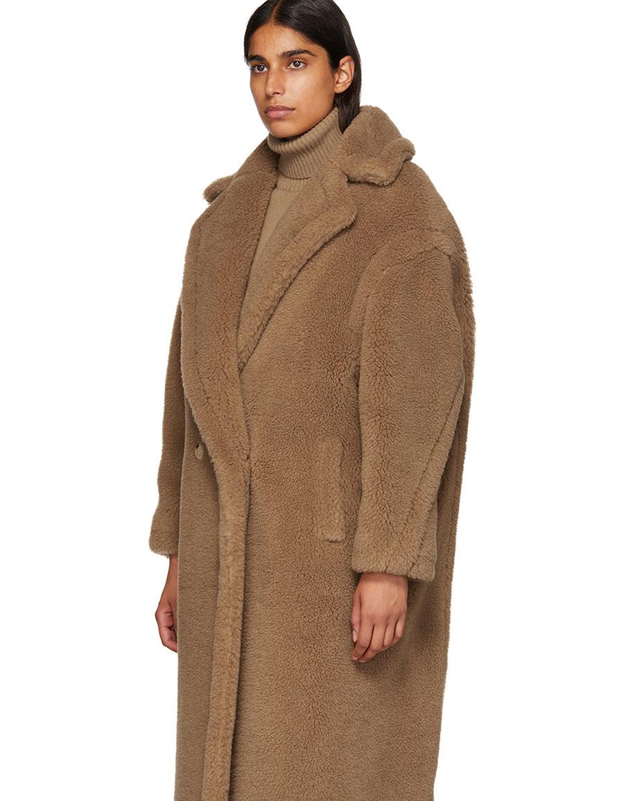 MAX MARA Tan Teddy Coat
