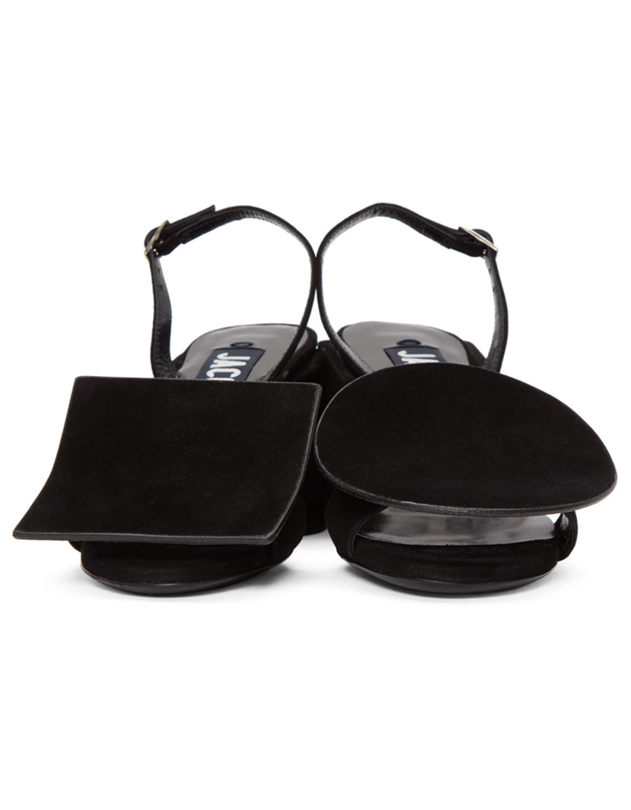 JACQUEMUS Black 'Les Rond Carré' Sandals