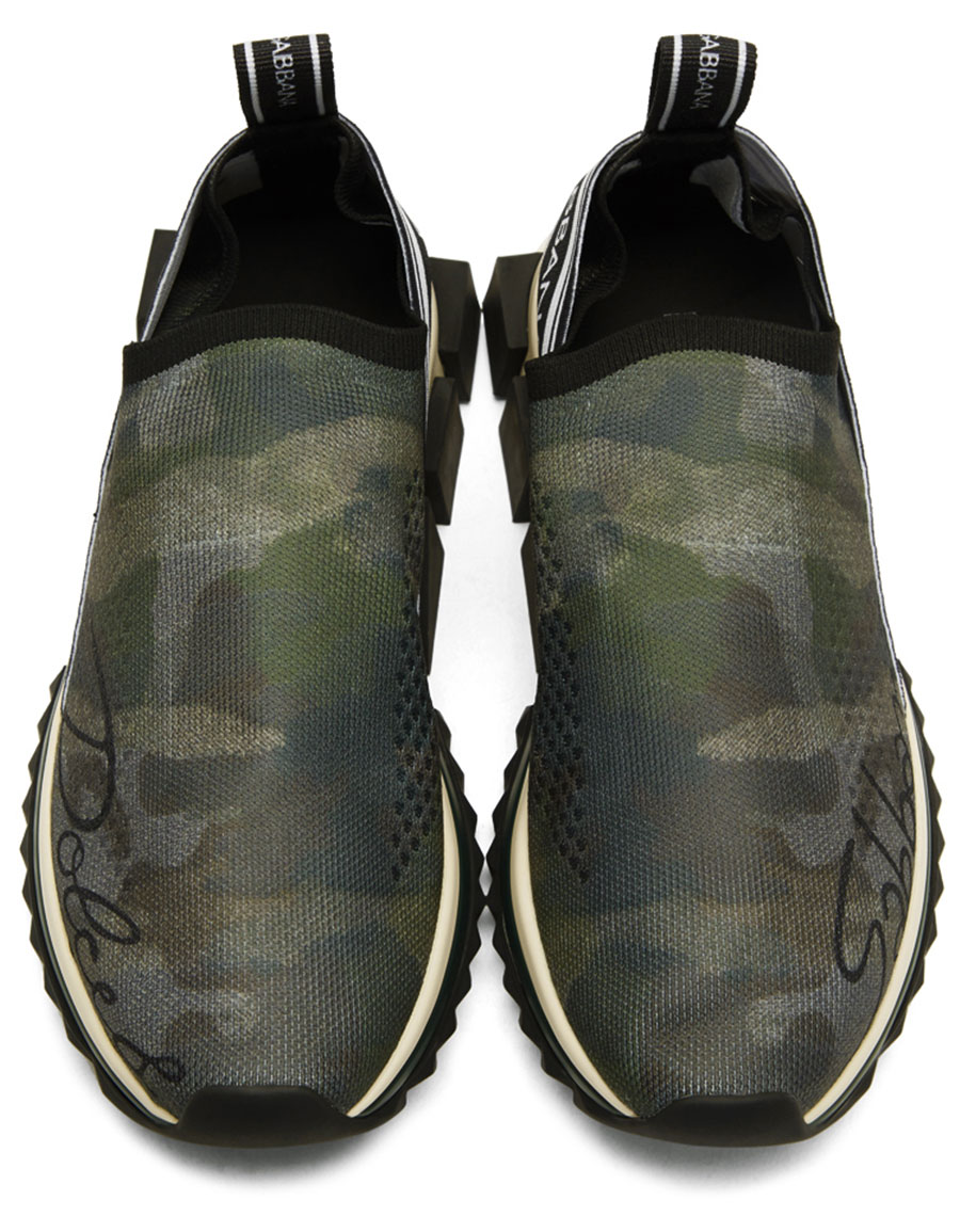 DOLCE & GABBANA Green Sorrento Sneakers