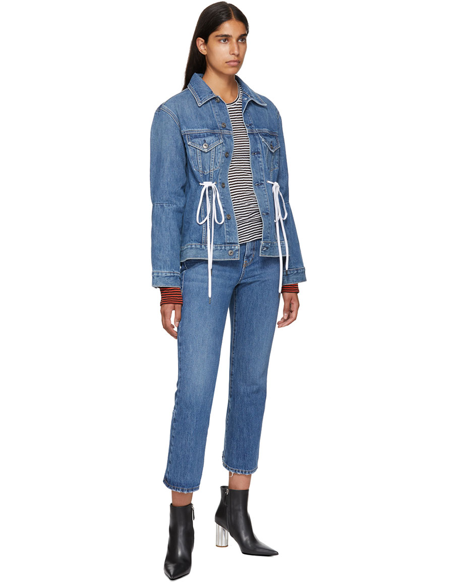 PROENZA SCHOULER Blue PSWL Cropped Flare Jeans
