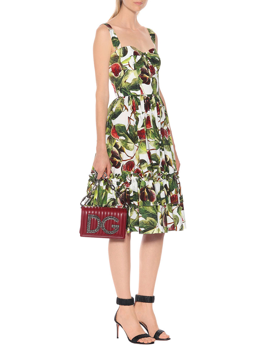 DOLCE & GABBANA Fig cotton poplin dress