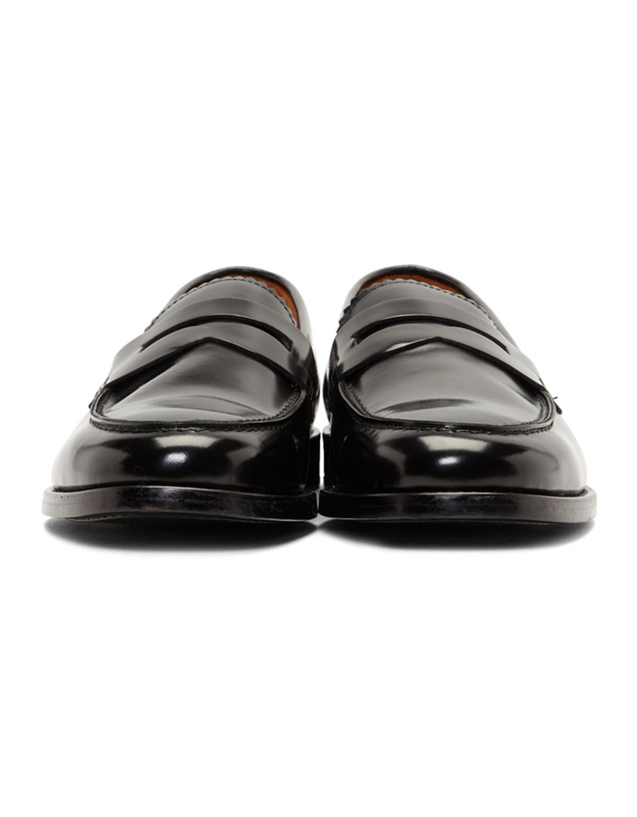 HOPE Black Patent Patty Loafers