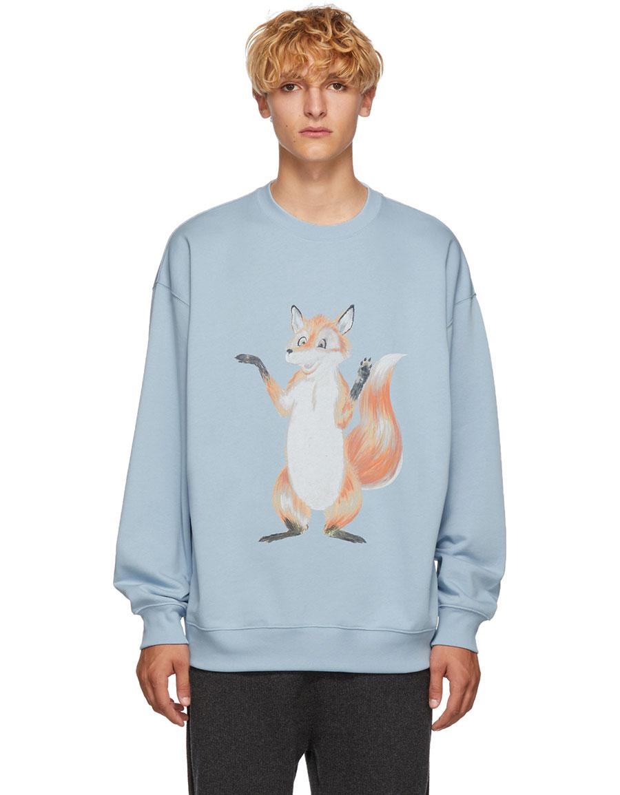 ACNE STUDIOS Blue Fox Crewneck Sweatshirt