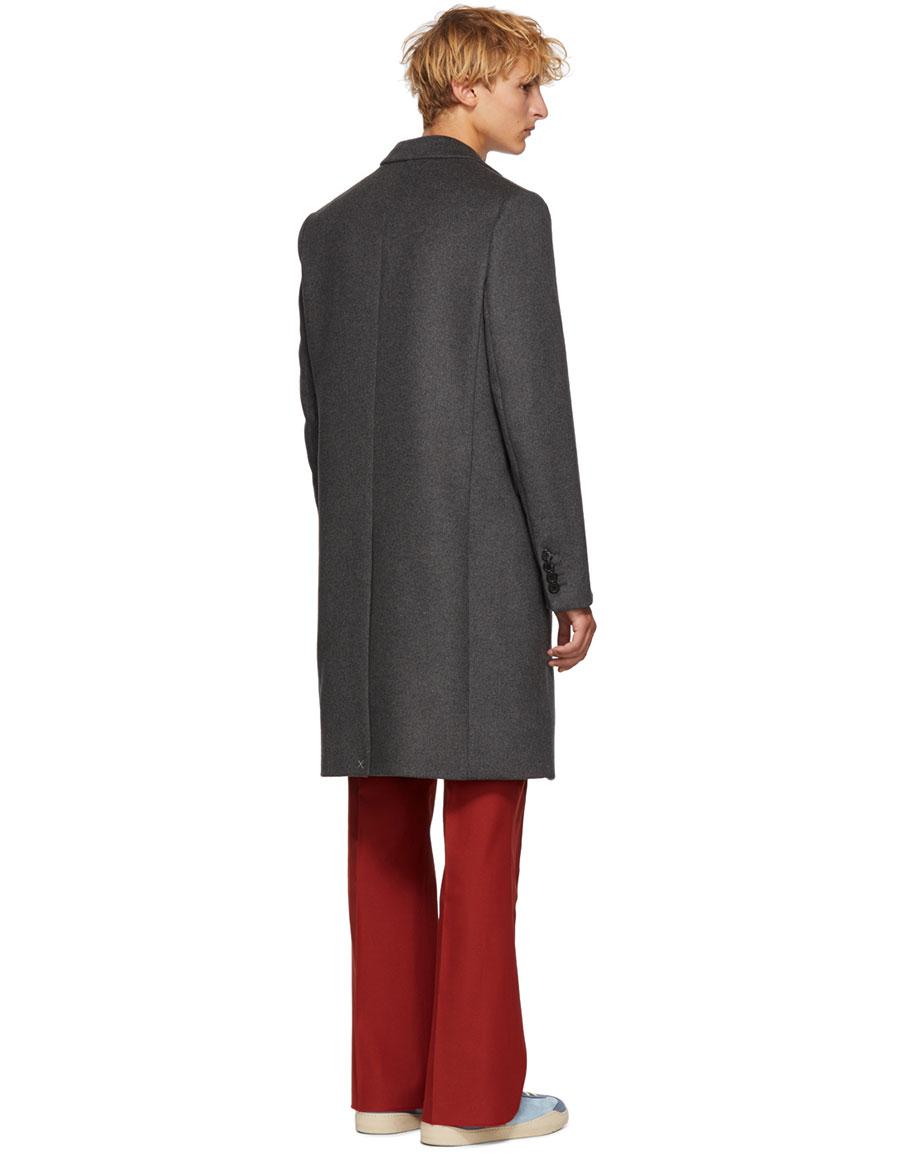 ACNE STUDIOS Grey Wool Gavin Coat