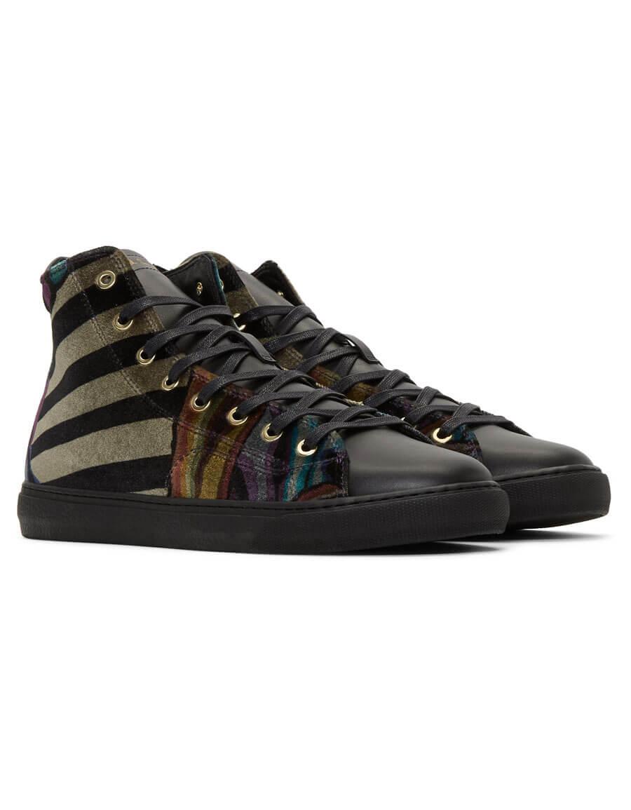 PAUL SMITH Multicolor Velvet Sirius High Top Sneakers