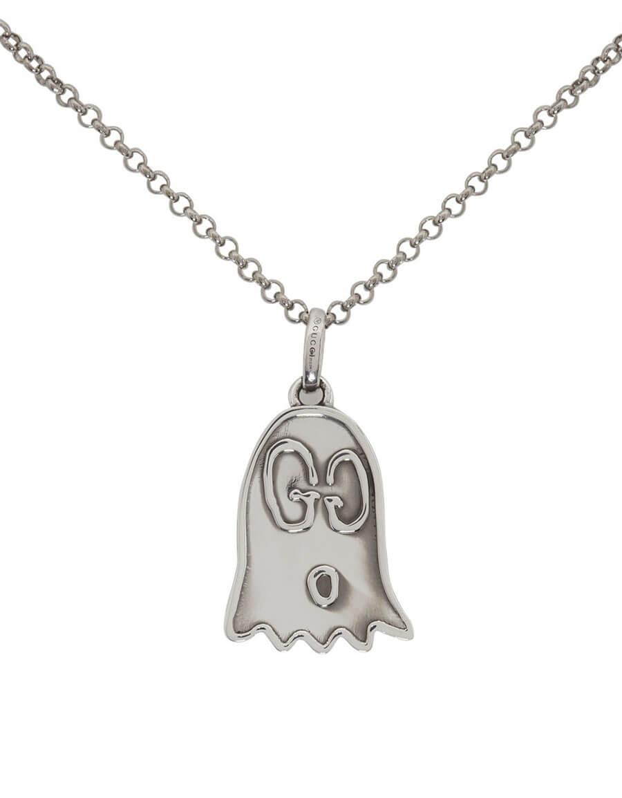 GUCCI Silver GucciGhost Necklace