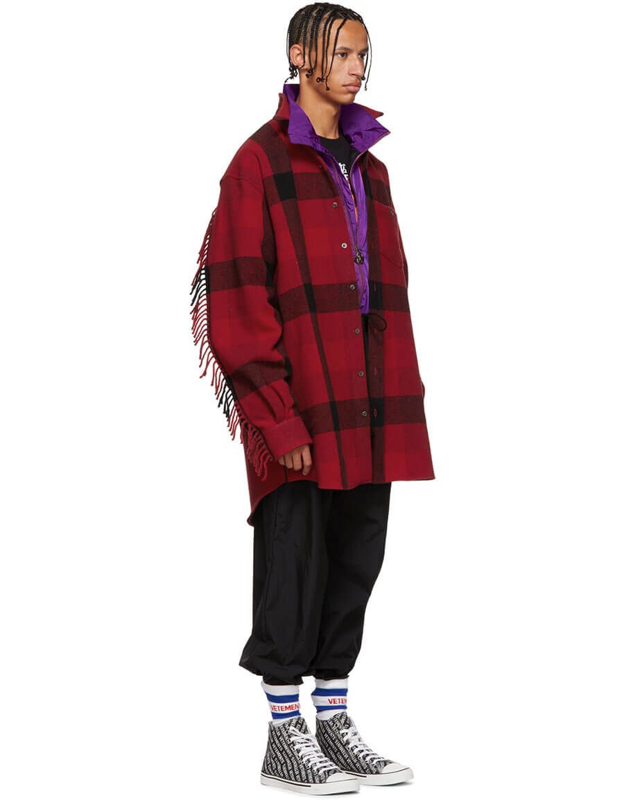 VETEMENTS Red Flannel Western Shirt