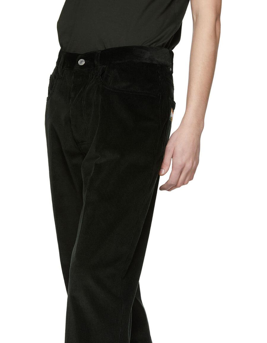KENZO Green Corduroy Memento Straight Cut Trousers