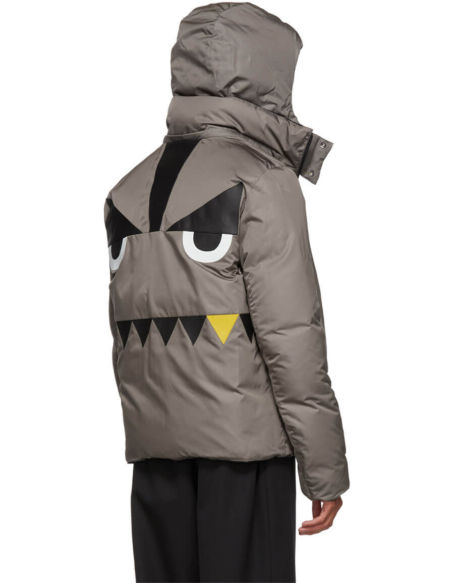 FENDI Reversible Navy 'Bag Bugs' Back Jacket