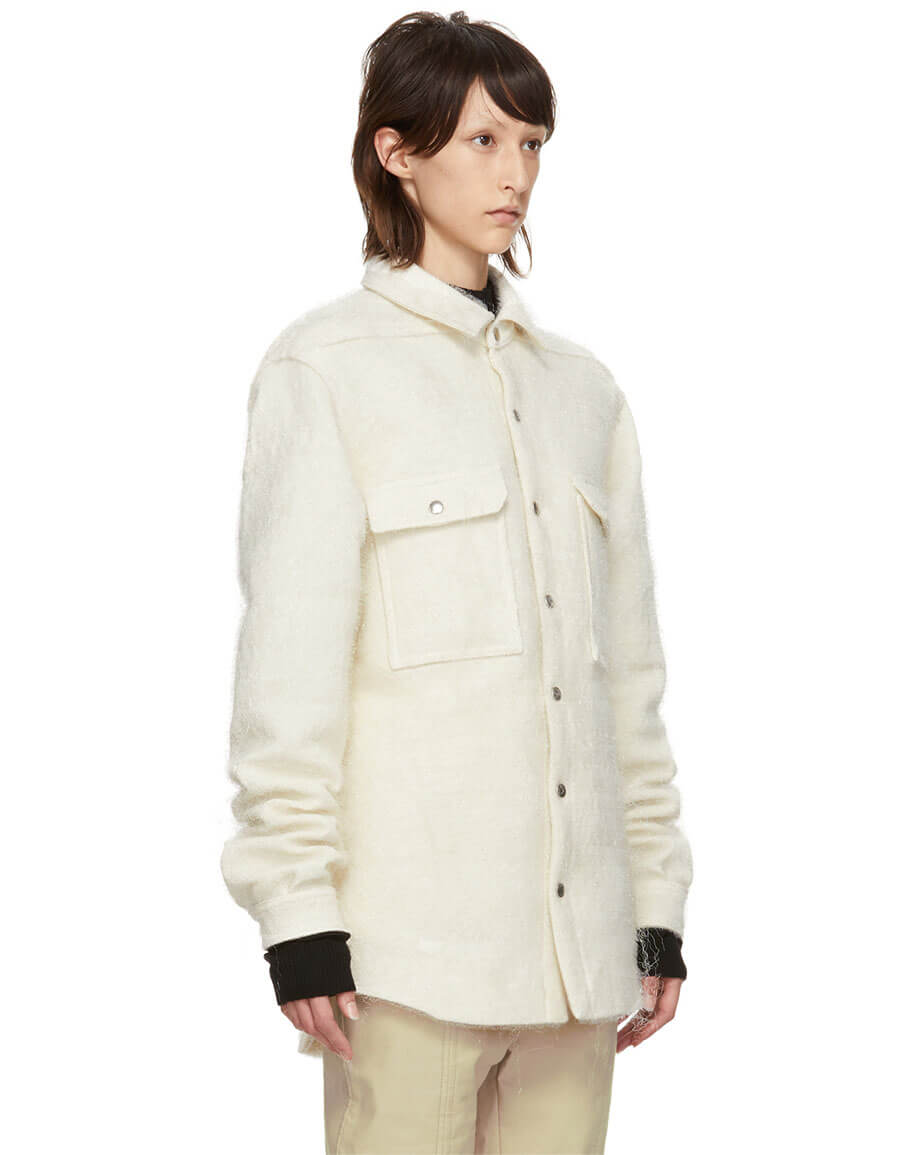 RICK OWENS Off White Outershirt Jacket