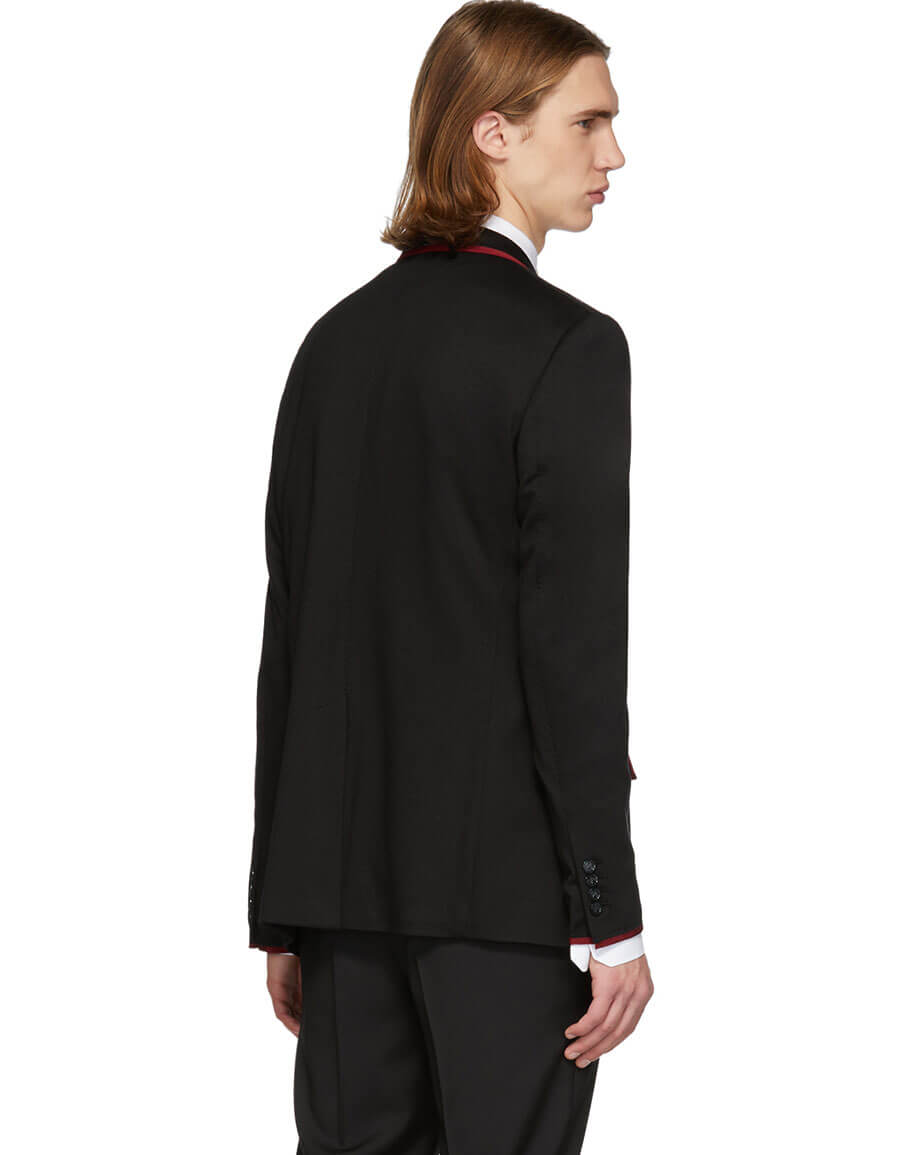 DOLCE & GABBANA Black Jersey Blazer