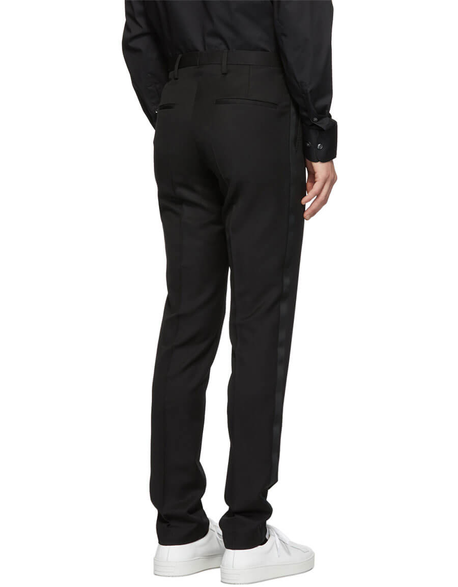 TIGER OF SWEDEN Black Thulin Tuxedo Trousers
