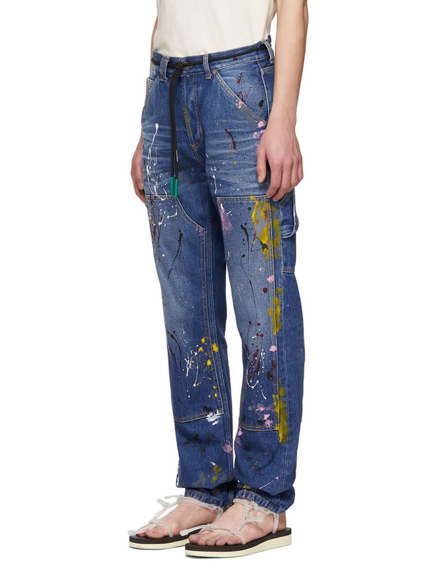 OFF WHITE Blue Carpenter Jeans