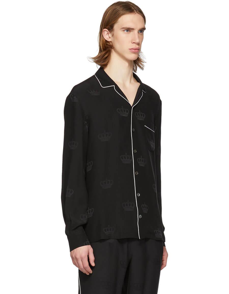 DOLCE & GABBANA Black Silk Shirt