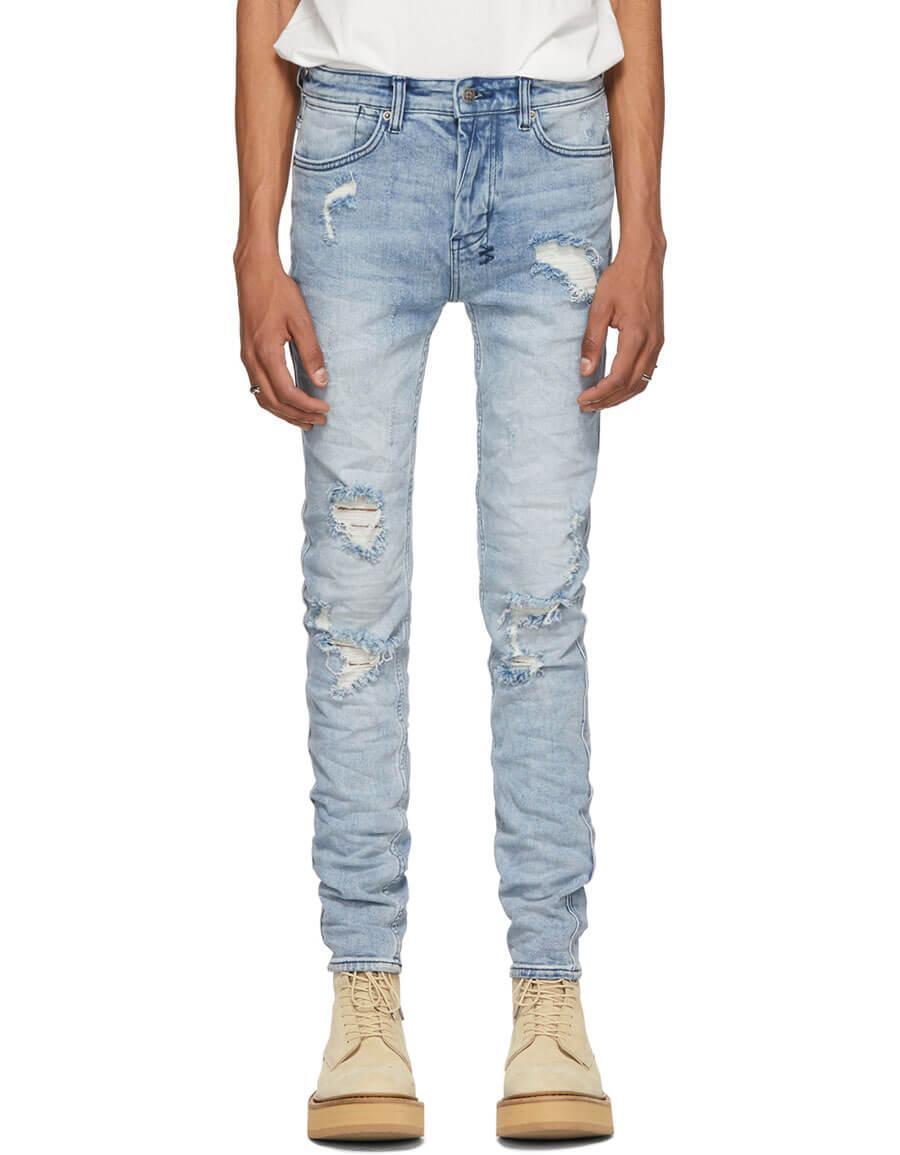 KSUBI Blue Van Winkle Trashed Jeans
