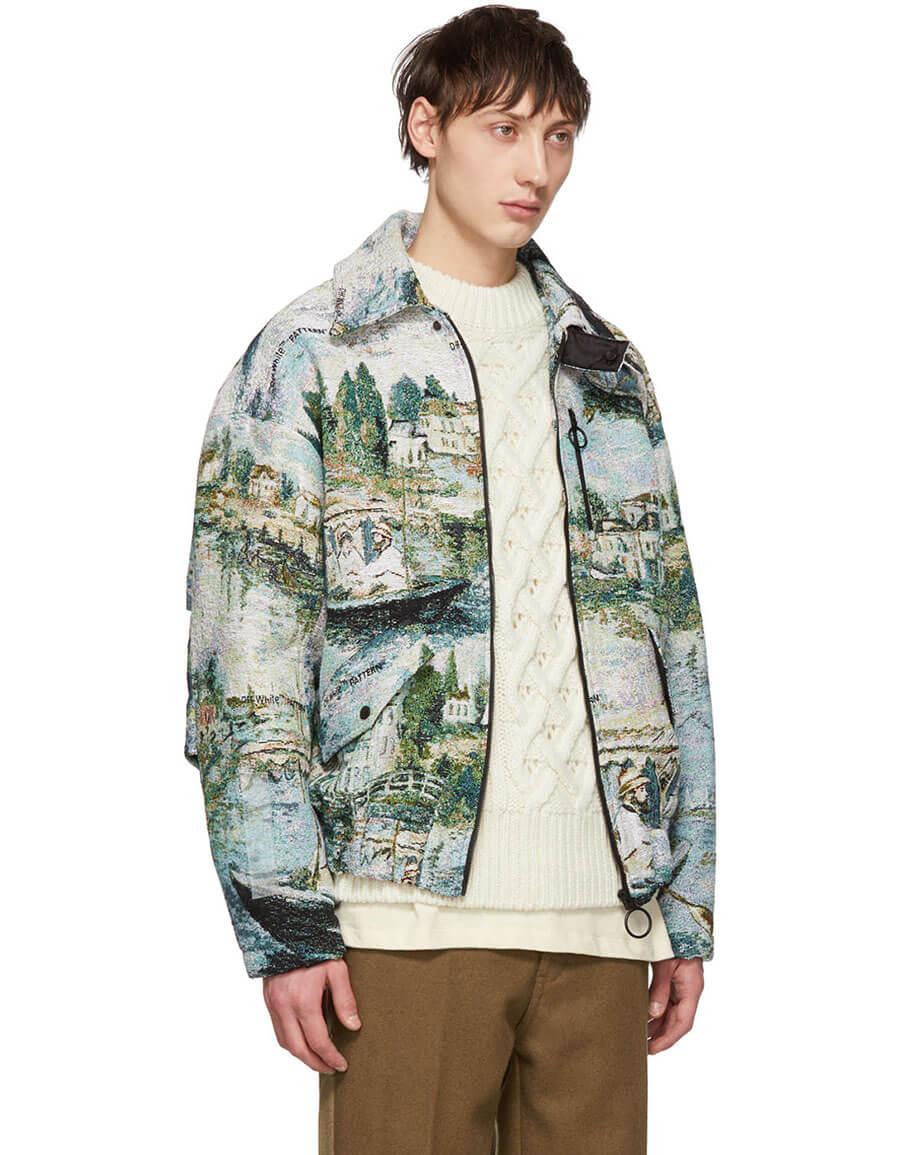 OFF WHITE Multicolor Jacquard Lake Jacket