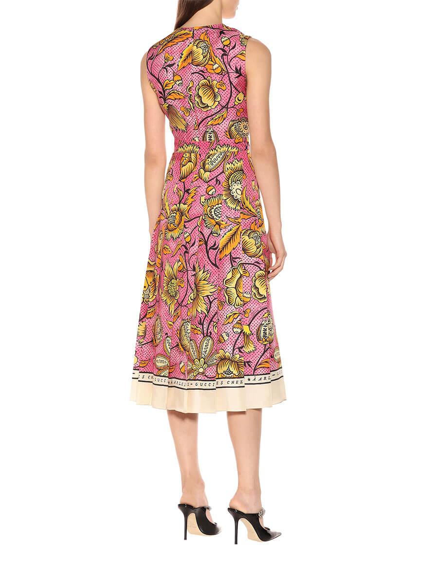 GUCCI Printed silk dress