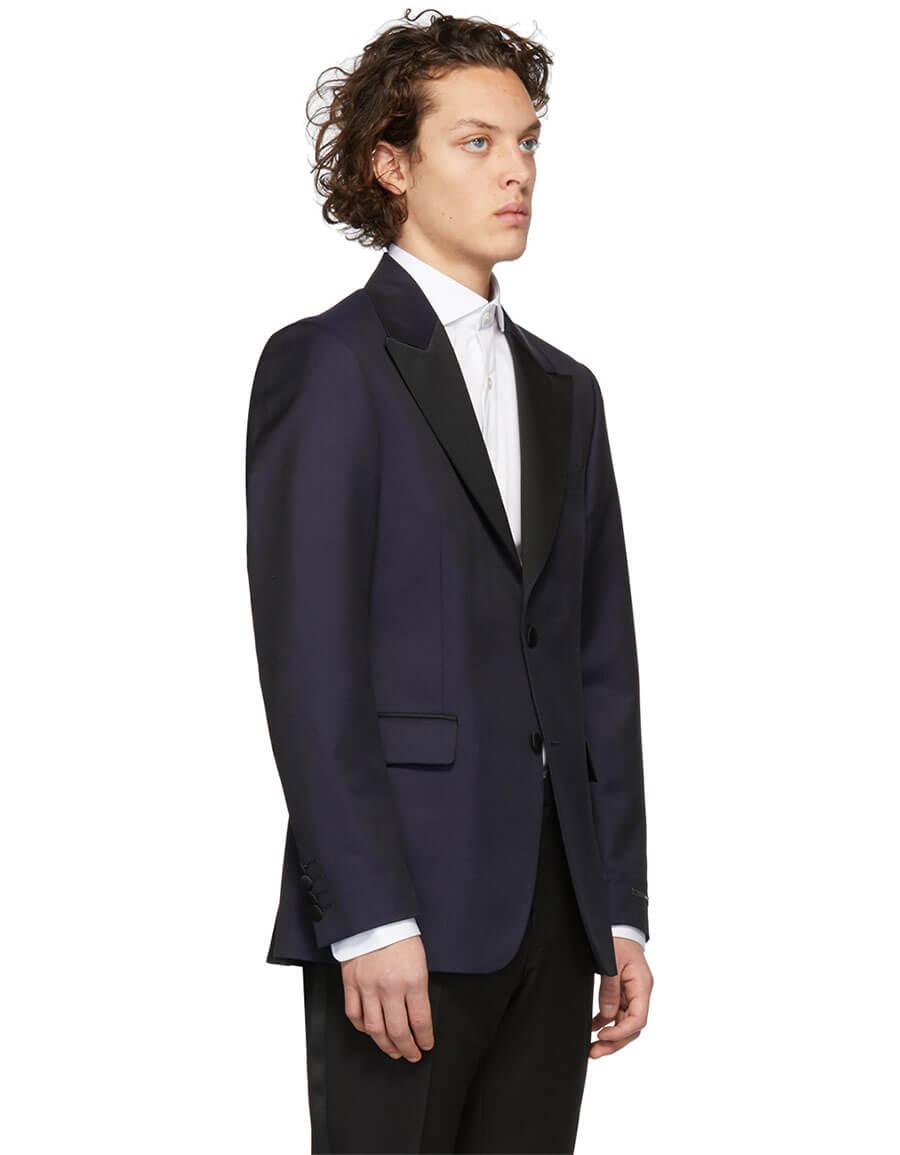 TIGER OF SWEDEN Navy Jerald Tuxedo Blazer