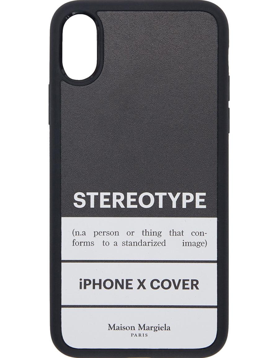 MAISON MARGIELA Black 'Stereotype' iPhone X Case