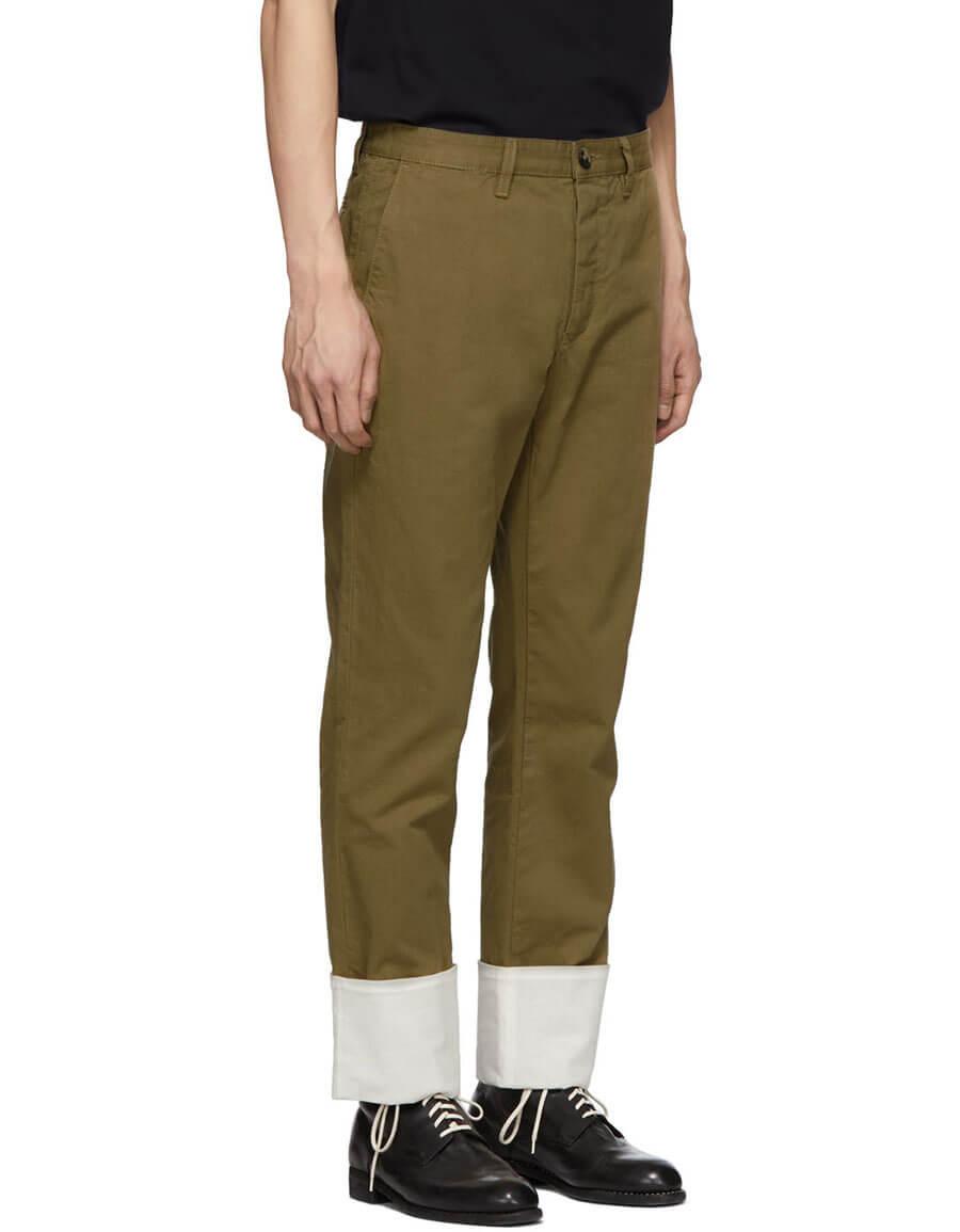 LOEWE Beige Turn Up Chino Trousers
