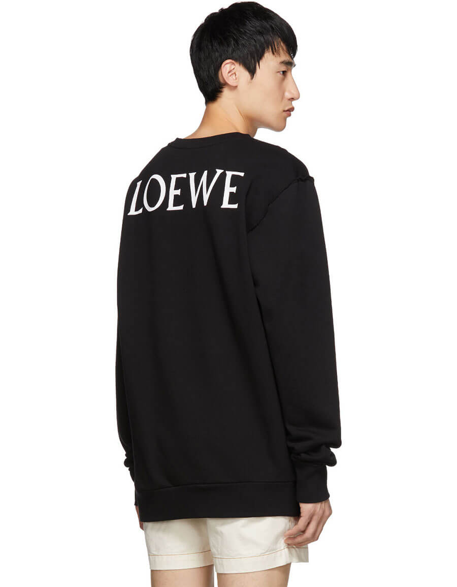 LOEWE Black Totem Window Sweatshirt