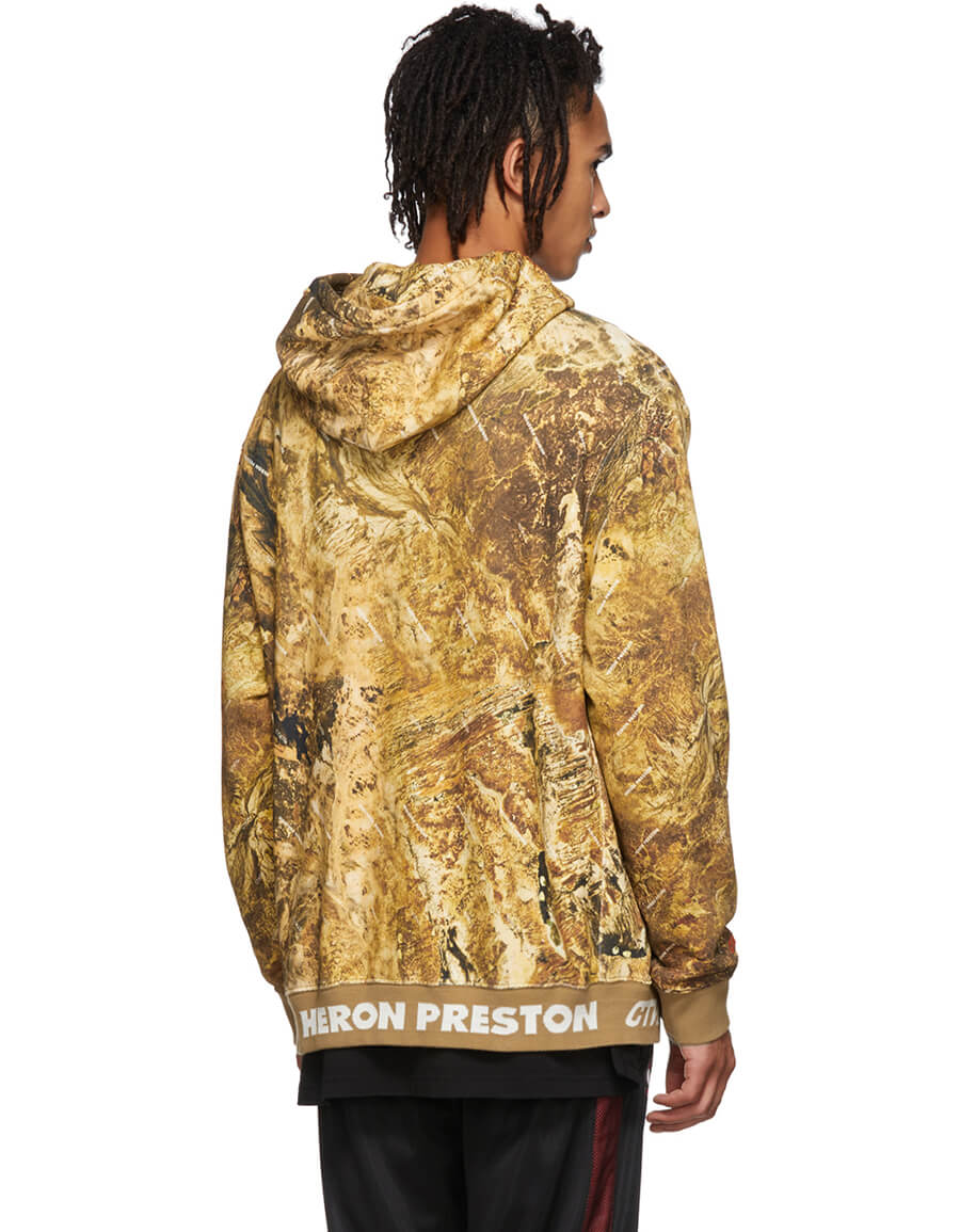HERON PRESTON Brown Camouflage Hoodie