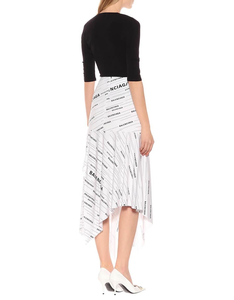 BALENCIAGA Printed jersey midi skirt