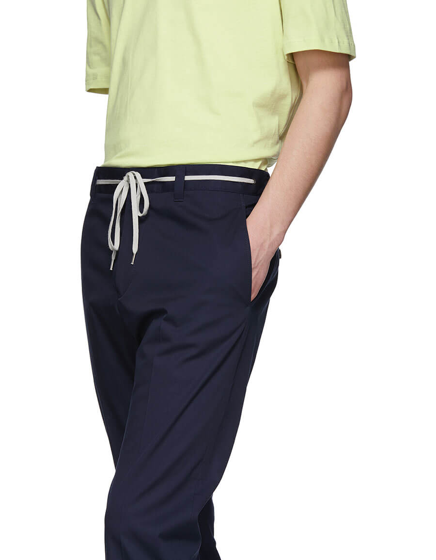 LANVIN Blue Slim Drawstring Trousers