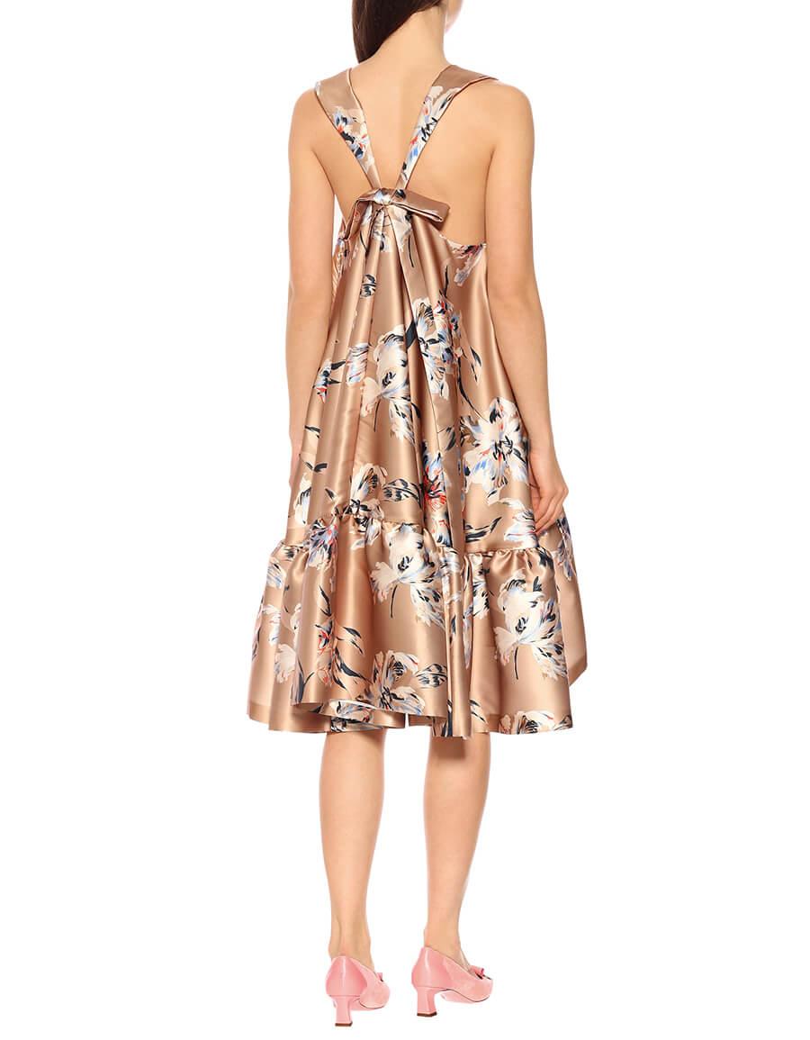 ROCHAS Floral satin dress