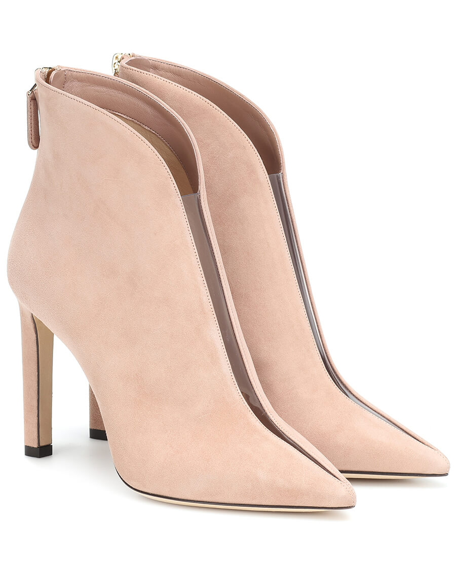 JIMMY CHOO Bowie 100 suede ankle boots