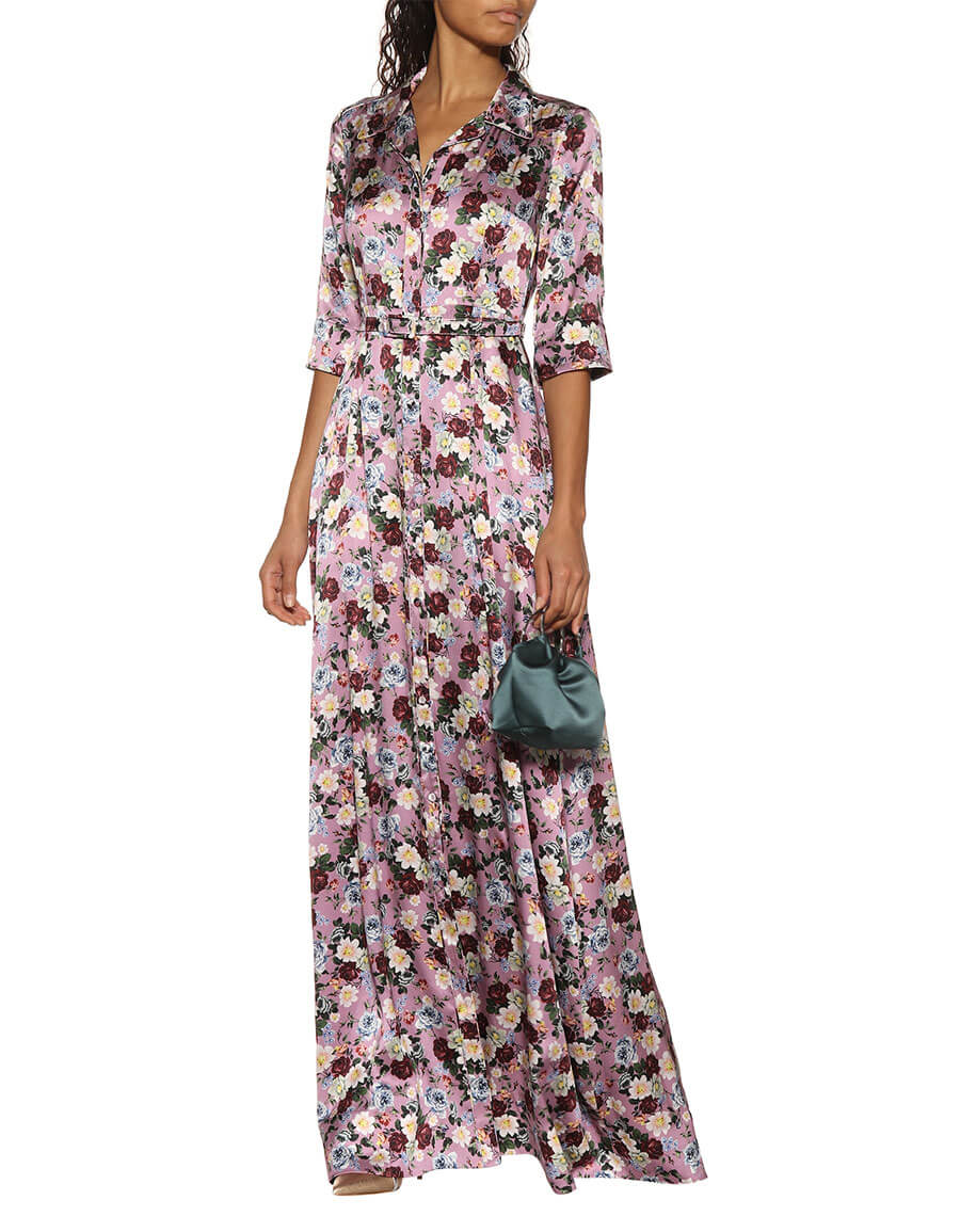ERDEM Karissa floral printed silk gown