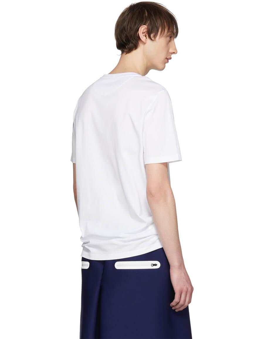 FENDI White Bag Bugs Pocket T Shirt
