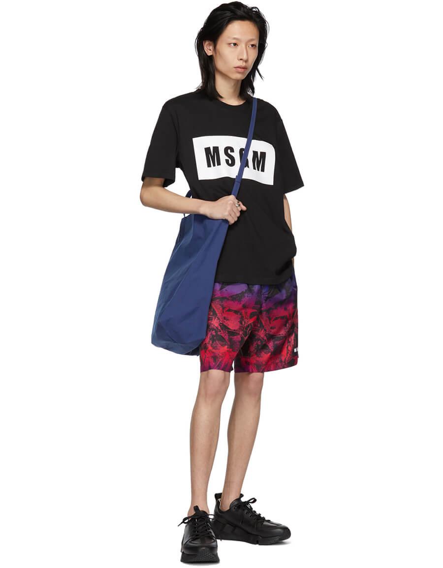 MSGM Multicolor Graphic Shorts