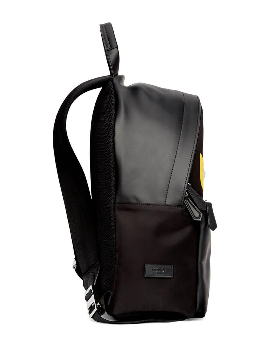 FENDI Black & Yellow Bag Bugs Backpack