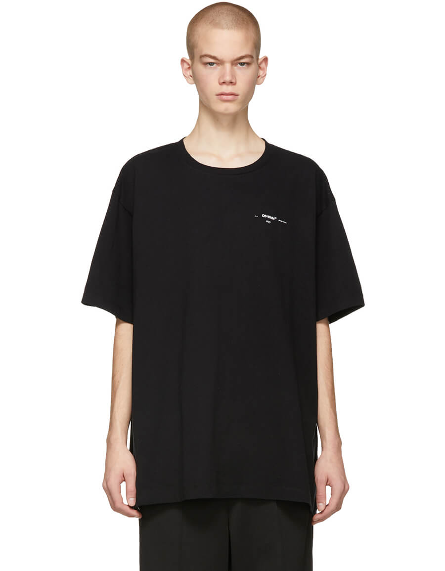 OFF WHITE Black Colored Arrows T Shirt