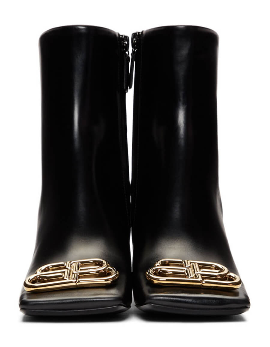 BALENCIAGA Black Square BB Boots