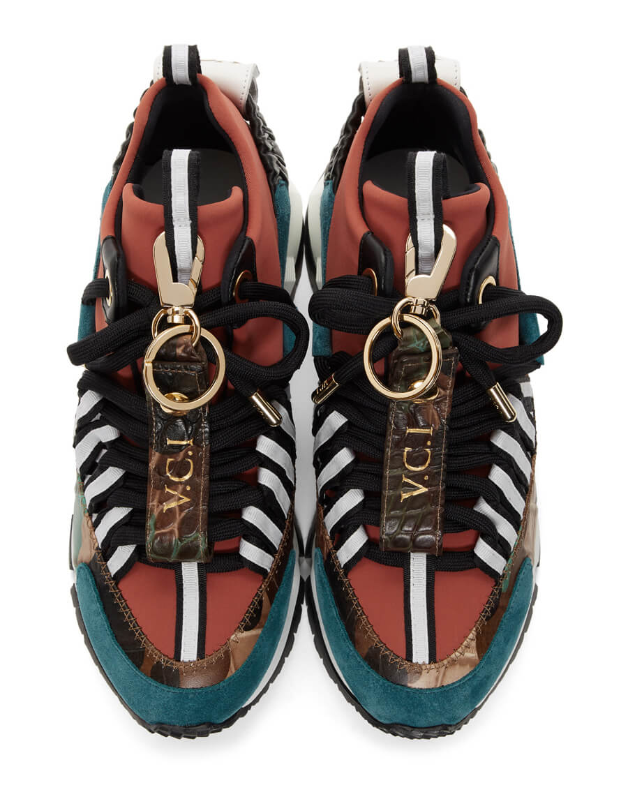 PIERRE HARDY Red & Blue Victor Cruz Edition VC1 Sneakers