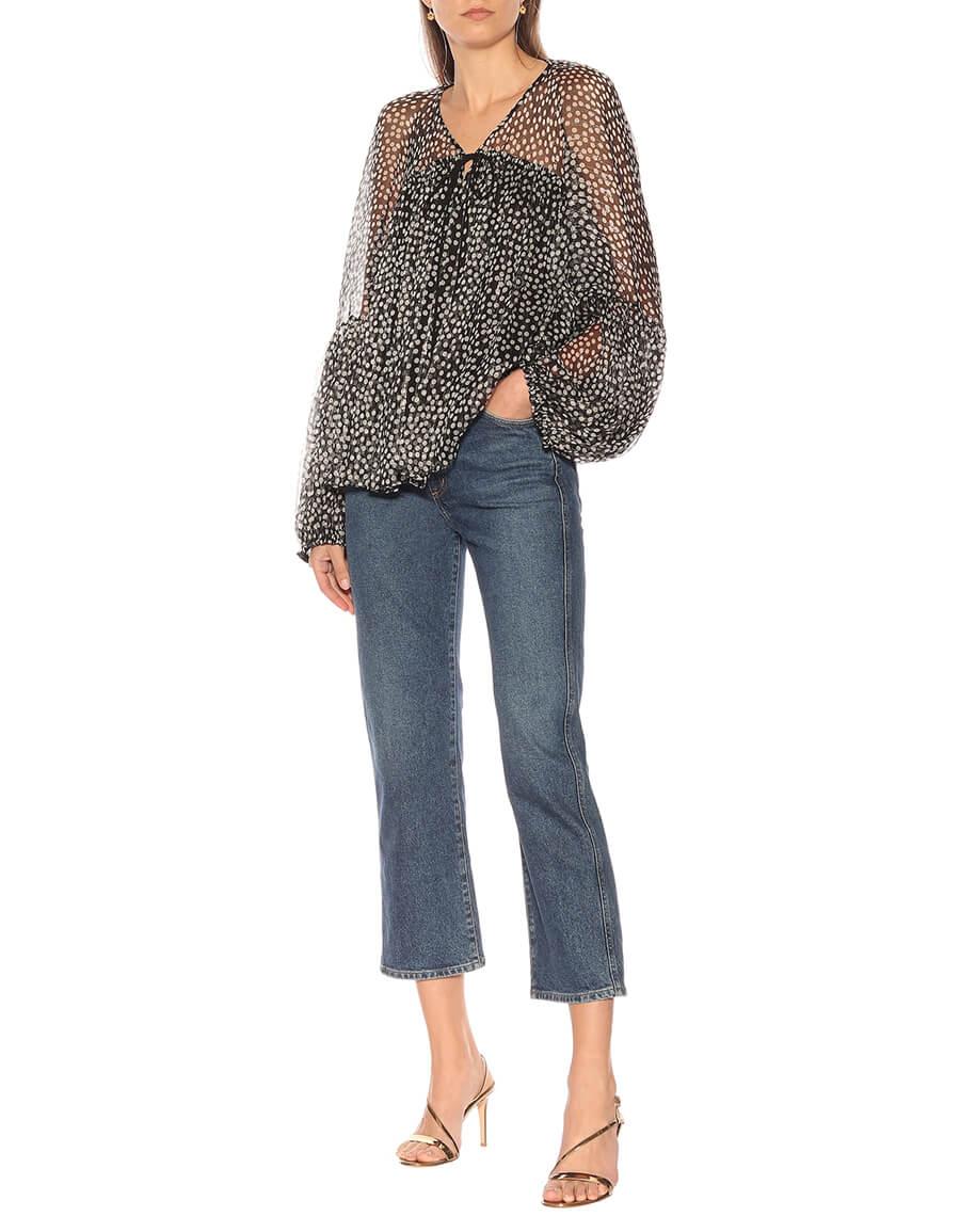 STELLA MCCARTNEY Silk blend blouse