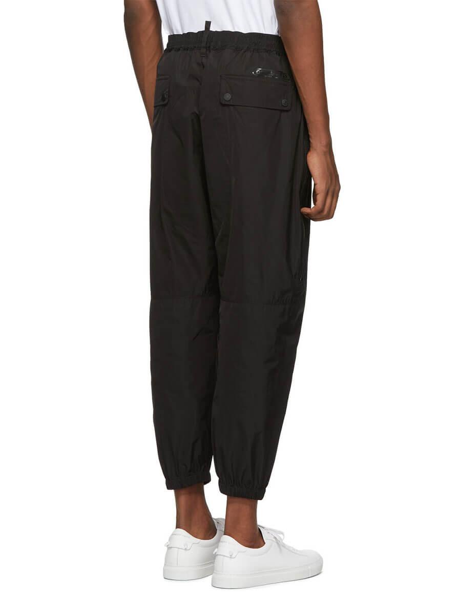 DSQUARED2 Black Zip Lounge Pants