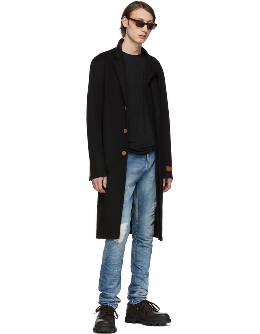 JOHN ELLIOTT Indigo Paint 'Cast 2' Jeans