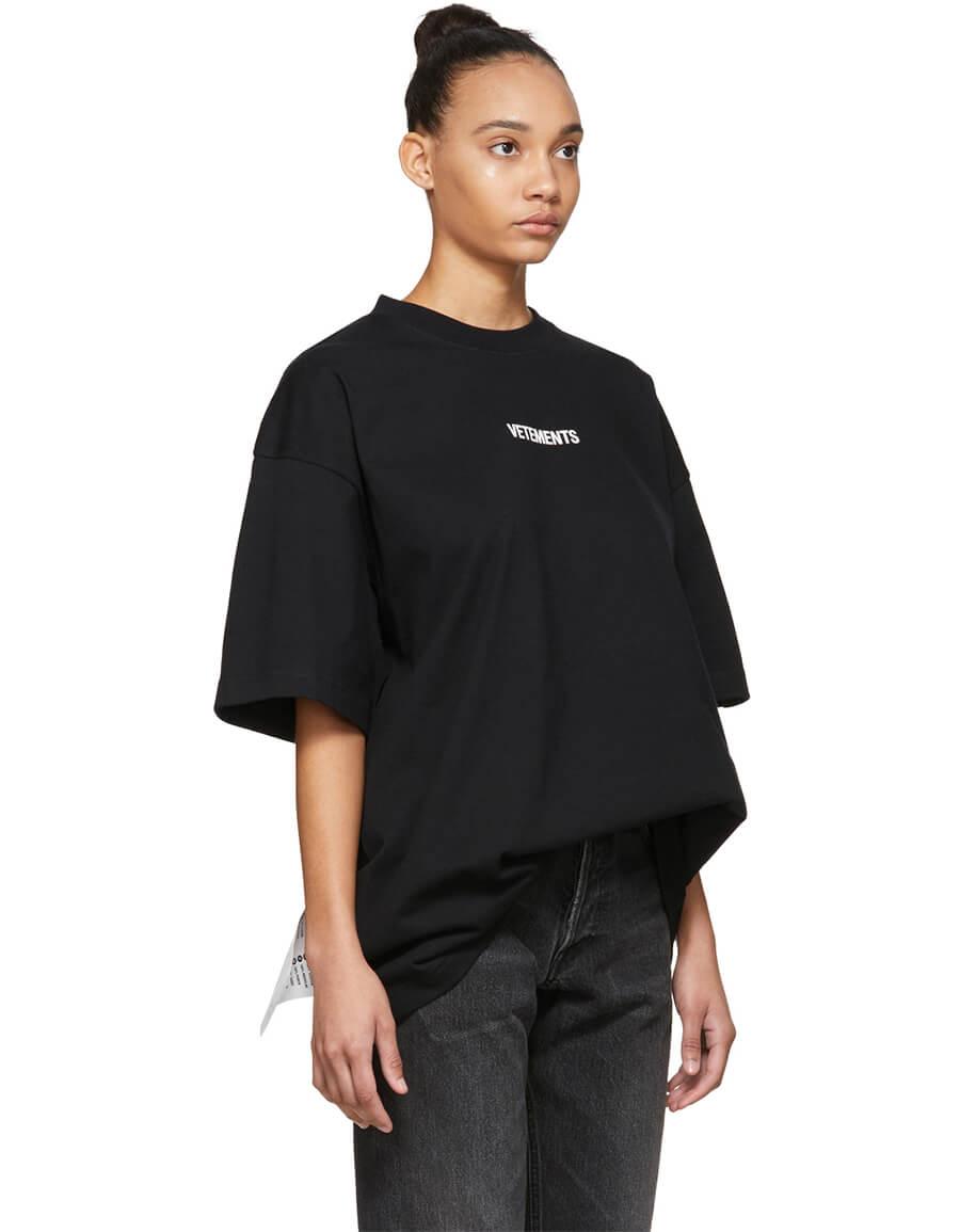 VETEMENTS Black Logo T Shirt
