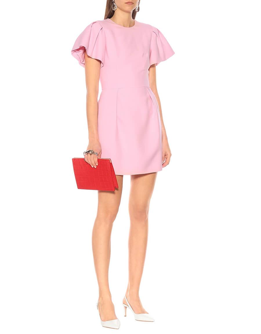 ALEXANDER MCQUEEN Wool and silk blend minidress