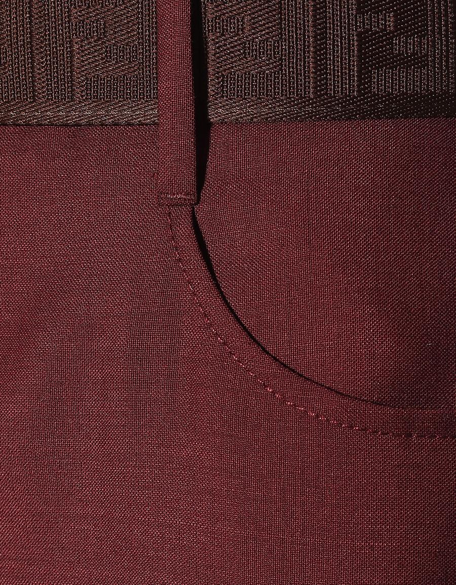FENDI High rise mohair and wool pants